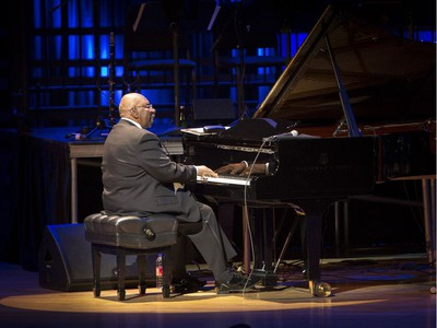 Piano legend Oliver Jones, with his trio, gave his farewell concert at the Montreal International Jazz Festival at the Maison Symphonique in Montreal, Thursday July 7, 2016.