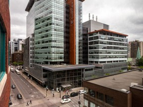 Concordia University EV Building at Guy and Ste-Catherine Sts. in downtown Montreal.