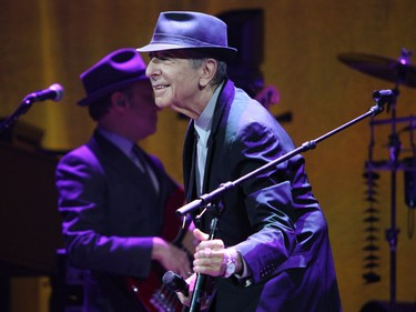 Montreal native Leonard Cohen at the Bell Centre in 2012.