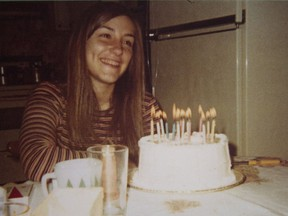 This photograph of Hélène Monast celebrating her 17th birthday hangs on the wall in the seniors' residence room of her father, Roland Monast. The teenager was killed in 1977, a year after this picture was taken, following a night with friends to celebrate her 18th birthday. Police have never solved the case.