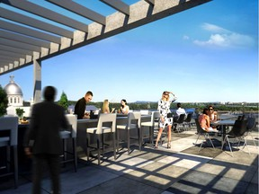 Wow factor: The rooftop terrace at Hôtel William Gray yields a 180-degree panorama.