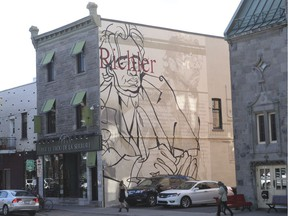 A mural of Mordecai Richler on Laurier Ave. W. in Montreal Monday, September 12, 2016.