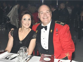 Dina Vincelli and husband Steve Gregory, honorary lieutenant-colonel, second Field Artillery Regiment, and president of the Garrison Ball organizing committee.