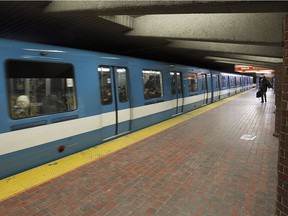 The Cote-des-Neiges station on the metro Blue Line on Wednesday February 24, 2016.