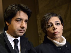 Lawyer Marie Henein, right, and client Jian Ghomeshi arrive at court in Toronto on Thursday, Jan. 8, 2015.