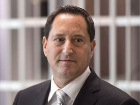 Former Montreal mayor Michael Applebaum leaves the courtroom after his request to have charges against him dropped was rejected, Sept. 12, 2016.