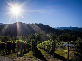 The Okanagan Valley in British Columbia is known for its wines, but B.C. wines are not so easy to find in Quebec.