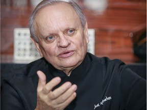 """I am overwhelmed, awestruck, by all these local ingredients,"" Joël Robuchon  said Tuesday during a tour of his restaurant before its grand opening. ""It's rare to see so much, of such exceptional quality."""