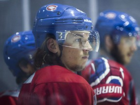 Sven Andrighetto at practice at the Bell Sports Complex in Brossard near Montreal Wednesday, September 28, 2016.