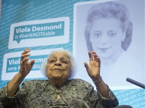 Wanda Robson speaks about her sister, Viola Desmond, during an interview in Gatineau on Thursday, December 8, 2016. Desmond will be the first Canadian woman on a Canadian banknote.