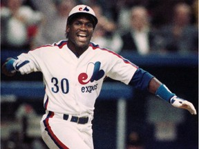 Tim Raines, seen here with the Montreal Expos in 1989, played for six major league teams from 1979 to 2002.