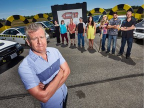 Host Andrew Younghusband with Canada's Worst Driver Season 12 participants.