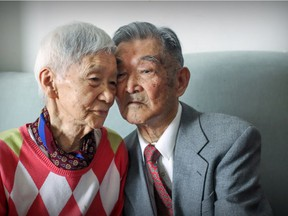Yeo Choon Sung, 100, and his wife Park Yong Jung, 96, in their N. D. G apartment in Montreal Wednesday February 22, 2017. They have been married for 76 years.