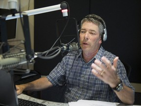 Elliott Price in studio at CFMB last summer. Price ended his self-produced show on the station last week and will join Sportsnet 590 The Fan in Toronto starting Feb. 27.
