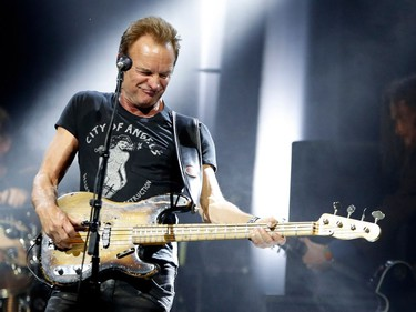 Sting performs at Metropolis in Montreal on Monday March 6, 2017.