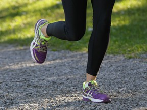 Runners need shoes designed for running,  so head to your local running store and let them fit you with shoes that will keep your feet happy.
