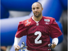 Davis Sanchez on opening day of the Montreal Alouettes Canadian Football League training camp   Saturday, June 6, 2009 at Campus du Fort St. Jean in St-Jean-Sur-Richelieu south of Montreal.