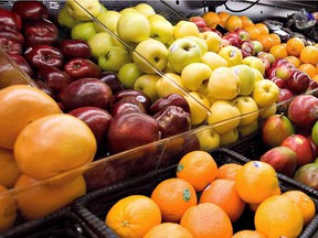 Produce is on display in a Breakeyville, Que., grocery story on Nov. 28 2006.