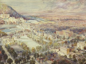 Painting of McGill University by Percy Erskine Nobbs, 1909-1913.