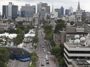 A view of René-Lévesque Blvd. that will be part of the Formula E race on the weekend.