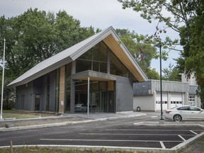 Senneville's new town hall was built this summer on the same site as the old town hall, with a $2.5-million price tag.