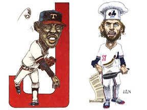 Left, Fergie Jenkins: Did my vote get Fergie Jenkins into the Hall of Fame? Right, Bill Lee cooking up a batch of hashish pancakes.