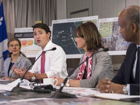 Prime Minister Justin Trudeau was in Montreal Wednesday to meet with the newly formed Intergovernmental Task Force on Irregular Migration.