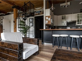 """Celia Lavinskas and Andrew Mann live in a """"very cool"""" loft condo in the Sherwin Complex, which used to be the Sherwin Williams paint factory."""