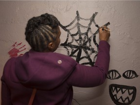 Tarra Sparks helps spookify the Melrose Tunnel ahead of Halloween. It's a one-night-only attraction in N.D.G.
