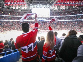 Canadiens fans wave towels prior before Game 1 of the first round NHL playoff series against the New York Rangers at the Bell Centre in Montreal on April 12, 2017.