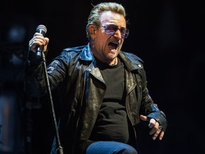 U2's Bono at Montreal's Bell Centre in June 2015.