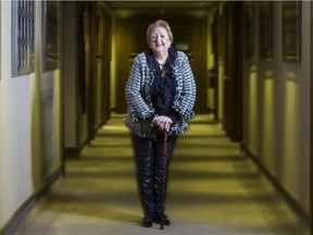 Michele D. Biron, borough councillor Montreal, poses outside her offices in St-Laurent borough hall in Montreal, Quebec November 21 2017.