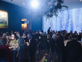 Each room boasted a different western-flavoured scene at the annual Museum Ball for the Montreal Museum of Fine Arts.