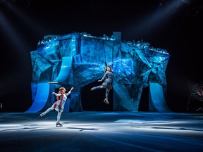 Eighteen of Crystal's 40 performers are professional skaters, and the other 22 are acrobats.