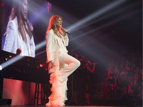 Dancer Pepe Muñoz admits he's good friends with Céline Dion (pictured at the Bell Centre in 2016), but that's it.