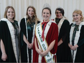 The queen of this year's St. Patrick's Parade in Montreal is Kathleen Brown-Vandecruys (centre) of Dorval.