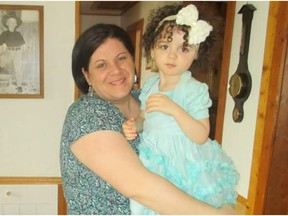 Abbygail Wellman and her daughter Khloe.