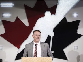 Sean Burke was co-general manager of Team Canada at the 2018 IIHF World Hockey Championship.