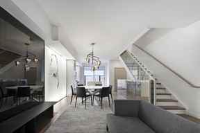 Each of the 17 townhouses on Overdale Avenue offers four floors of living space, including an open-concept main floor.