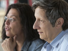 """Director Robert Lepage and singer Betty Bonifassi, who teamed up for SLAV, """"a theatrical odyssey based on slave songs,"""" as part of the Montreal International Jazz Festival at L'Astral in Montreal, on Wednesday, June 20, 2018."""