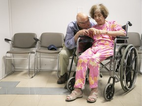 """Fighting for promised English-language care for his wife, George Zeliotis recalled his conversation with a nurse: """"I asked if there was anyone who could speak English. She told me, 'This is Quebec. We speak French in Quebec'."""""""