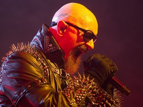 Rob Halford of Judas Priest at the Bell Centre in 2011: operatic wails and patentable shrieks.