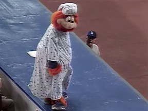 On Aug. 23, 1989, Montreal Expos mascot Youppi was ejected from a game against the Dodgers.