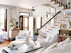 Natural elements such as wood help keep an all-white room feeling warm and cosy.