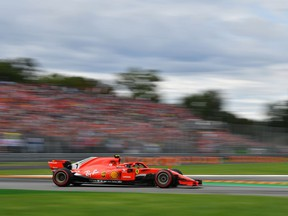 Ferrari's Finnish driver Kimi Raikkonen competes during the qualifying session at the Autodromo Nazionale circuit in Monza on September 1, 2018 ahead of the Italian Formula One Grand Prix.