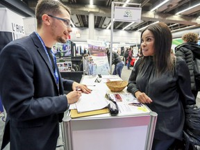 A job fair like this one in Montreal was hosted in Sherbrooke Nov. 2-3 to attract immigrant workers to help ease the labour shortage in the Townships region.