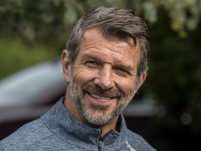 Canadiens General Manager Marc Bergevin at the start of the club's annual charity golf tournament at Laval-Sur-le-lac Golf Club on Sept. 10, 2018.