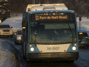 The first STM hybrid buses presented in 2016 (including the one above) were supposed to save 30 per cent on fuel. But internal STM documents show a savings of only 11 or 15 per cent.