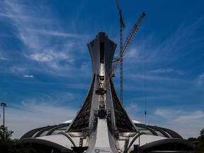 The Olympic Stadium's tower got a facelift in 2017.