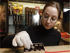 Garance Belair-Boileau packs chocolates at Chocolats Geneviève Grandbois. There's a reason the sweet treat is a Valentine's Day standby. Who doesn't love chocolate?